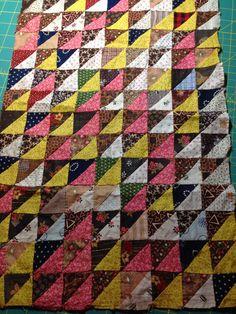 antique hst patchwork @ http://inspiredbyantiquequilts.blogspot.com/