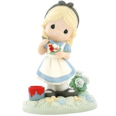 Love this Precious Moments Alice figure. She's painting the roses red :)