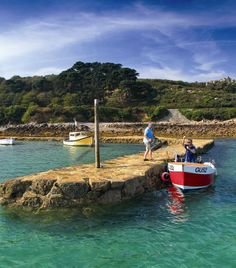 Fancy a dip off the pier? The beautiful Portelet
