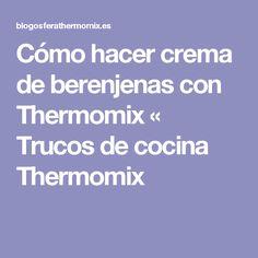 Cómo hacer crema de berenjenas con Thermomix « Trucos de cocina Thermomix