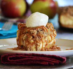 Carmel apple crisp cheesecake