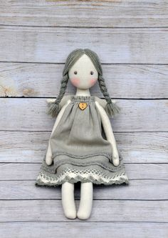 Textile doll, Tilda doll ,Princess Tilda angel, Cute angel, made of natural mate. Fabric Doll Pattern, Doll Sewing Patterns, Clothes Patterns, Sewing Doll Clothes, Sewing Dolls, Homemade Dolls, Doll Tutorial, Fairy Dolls, Stuffed Animal Patterns