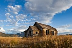 An old, abandoned schoolhouse in Idaho.