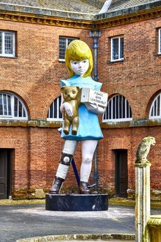 Damien Hirst, Charity, by the stables at HOUGHTON HALL, NORFOLK