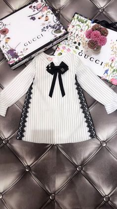 Gucci baby girl dress - Gucci Baby - Ideas of Gucci Baby - Gucci baby girl dress Cute Little Girls Outfits, Little Girl Dresses, Toddler Girl Outfits, Baby Outfits, Kids Outfits, Gucci Baby Clothes, Designer Baby Clothes, Baby Kids Clothes, Baby Girl Fashion