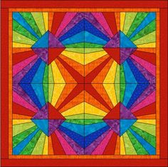 Patchwork pattern: Surprising Sun