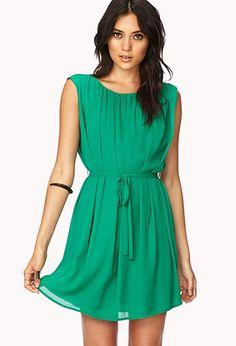 Elegant Shift Dress w/ Sash