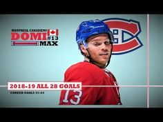 All 28 goals scored by the Montreal Canadiens' Max Domi in 82 games of the NHL season GPG). Max Domi, Nhl Season, Montreal Canadiens, Hockey, Goals, Seasons, Baseball Cards, Field Hockey, Seasons Of The Year