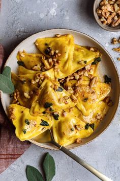 Butternut Squash Raviolis With Sage Butter - Dash of Mandi