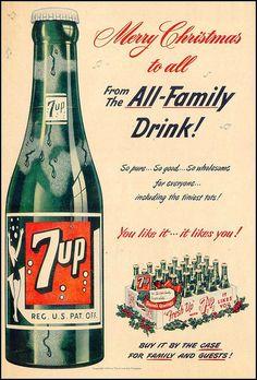 7Up 1951 xmas vintage ad