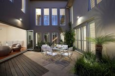 Rolling Stone Landscape:  Courtyard