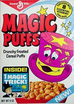 GENERAL MILLS: MAGIC PUFFS Cereal #Vintage