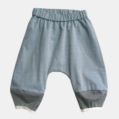 Image of Monkey Pants - Blue Oxford Sewing For Kids, Baby Sewing, Little Designs, Baby Pants, Baby Kids Clothes, Petite Fashion, Boy Outfits, Girl Fashion, Monkey Baby
