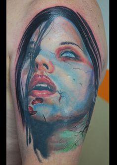 zombie horror tattoo