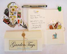 Garden Journal/Garden Tag Organizer:  Spring Has Sprung Collection by PaperieGardener on Etsy
