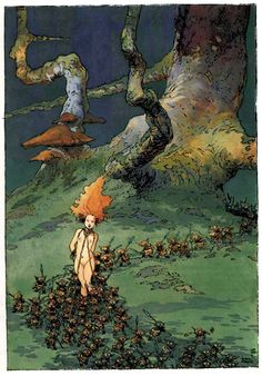 Tales from Weirdland — French comics artist, Régis Loisel. From his. Illustrators, Character Art, Illustration, Drawings, Drawing Illustrations, Comics Artist, Fantasy Illustration, Fantastic Art, Art