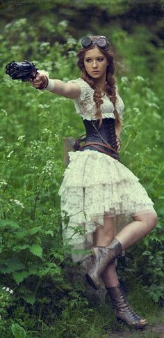 Trouble coming your way #steampunk #ruffles