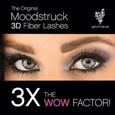 8e8e3a9a09a Get the WOW factor with the original Moodstruck Fiber Lashes from Younique.  LOVE your lashes!