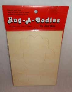 New Old Stock Hug-A-Bodies Large Lamb Wooden Kit Cut-Out Jan Way Craft #8307-020 #HugABodies