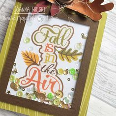 i love 2 cut paper: 'Fall is in the Air' Shaker Tag - Pazzles Design Team project
