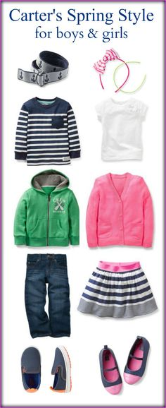 #CarterSpringStyle for boys and girls sizes 3T-7 great coordinating collection for b/g twins as well!
