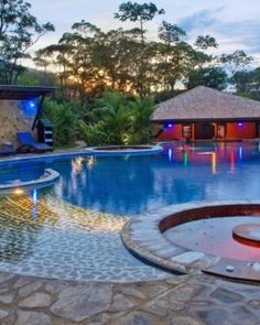 Rio Celeste Hotel & Hideaway  ( Guanacaste, Costa Rica )  After a day of hiking in the surrounding rainforest, retreat to the hotel's relaxing pool. #Jetsetter