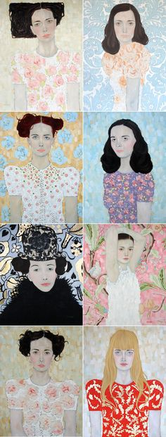 Self or friend portrait with patterning - image inspiration: Miss Moss Ryan Pickart (reminds me of Klimt) Portrait Art, Portraits, Portrait Paintings, Painting Inspiration, Art Inspo, Kunst Online, Art And Illustration, Figurative Art, Art Lessons