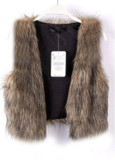 Fine Quality Artificial Fur Design Winter Vest for Woman