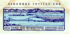 Golden Gate Intl Expo 1939 Alhambra Invites You San Francisco Envelope Art Cut | eBay