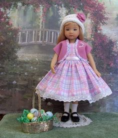 "Easter Egg Hunt Set for Your Little Darling Dianna Effner 13"" Studio Doll 