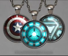 Avengers necklaces