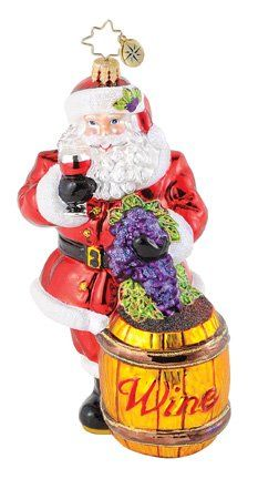 $38.74 Christopher Radko Sommelier Santa Ornament  From Christopher Radko   Get it here: http://astore.amazon.com/ffiilliipp-20/detail/B003L8IIFC/177-9909899-6574449