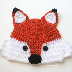 Crochet Fox Hat | Repeat Crafter Me