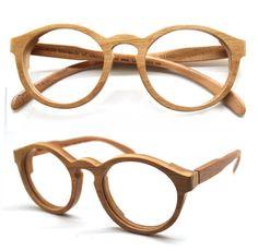 Cherry Wood Round Takemoto Thanks Handmade Wooden Brown customized  prescription Sunglasses 175cac634b6a