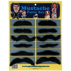 Private Island Party  - Cinco De Mayo 12 Pack Mexican Party Costume Fake Bulk Mustaches 1693, $2.50 - $3.99     This Cinco De Mayo Party Mustache Set is a great addition for Cinco De Mayo Mexican Party. This 12 Pack Mustache Party Set makes you have different fantastic facial expressions and hit the whole entire town. Also a perfect fun party giveaway.