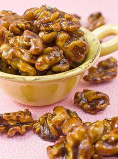 Coconut Sugar Candied Walnuts    Makes: 1 cup  Prep Time: 10 minutes    Ingredients:    6 tablespoons COCONUT SUGAR  6 tablespoons WATER  Pinch of SEA SALT  1 cup raw WALNUTS