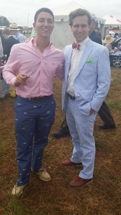 Stogie in hand, and a bow tie. Check out the great prints for the suit and pants 2014 @Atlanta Steeplechase.