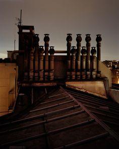 from Alain Cornu's photos of Paris (via Beautiful/Decay) Metro Paris, Paris Rooftops, Grand Paris, Paris Ville, World Cities, Dream City, Night City, Color Photography, Les Oeuvres