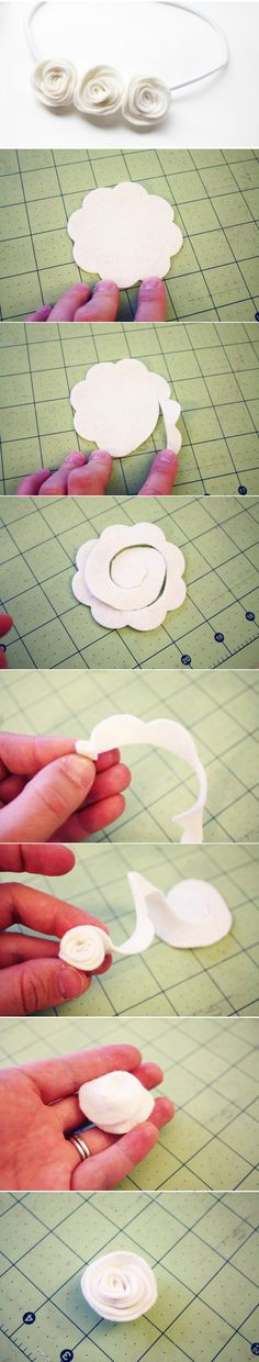 flores de fieltro. tutorial