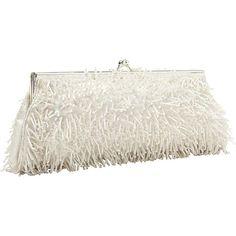 #EveningBags, #Handbags - Moyna Handbags Beaded Evening Clutch White - Moyna Handbags Evening Bags