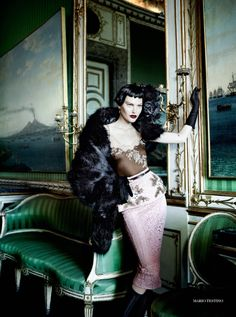Publication: Vogue UK September 2013 Model: Catherine McNeil Photographer:Mario Testino