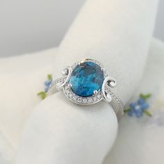COLOR YOUR LIFE. Blue Zircon and Diamonds in 18K White Gold. www.zomacolor..com