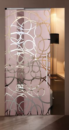 Aura sliding glass interior door by Casali
