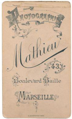 Photography Mathieu, Marseille | Vintage photographic Studio… | Flickr - Photo Sharing!