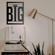 Deccort | Think Big Metal Tablo Think Big, Flip Clock, Metal, Home Decor, Homemade Home Decor, Metals, Interior Design, Home Interiors, Decoration Home