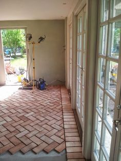 Sublime Useful Ideas: Painted Flooring Mural flooring stencil patio. Brick, Brick Patterns Patio, Brick Flooring, Home And Garden, Best Flooring, Flooring, Concrete Floors, Outdoor Living, Cottage