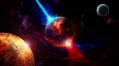 Wallpaper planet crush cataclysm by energy beam