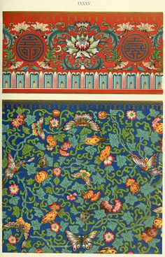 Colorful Pattern Art - Ethnic Asian Flowers Wallpaper Wall Art Prints Canvas Print / Canvas Art by Wall Art Prints Flower Wallpaper, Wall Wallpaper, John Everett Millais, Chinese Ornament, Asian Flowers, Street Art, Chinese Patterns, Chinese Embroidery, Chinese Design