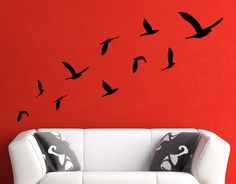 Flying Birds Wall Decal Decal Sticker by Zapoart on Etsy, $14.00 - €11.20