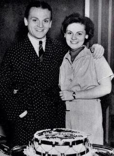 James Cagney with his sister